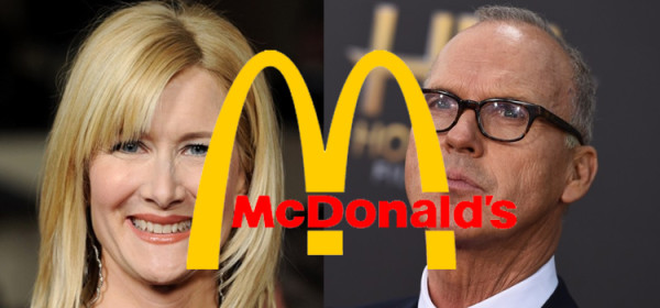 Laura Dern to Eat at McDonald's With Michael Keaton for Biopic