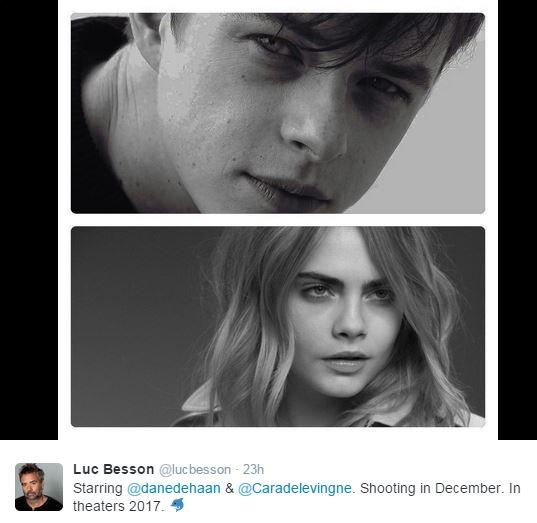 luc-besson-twitter-announcement-valerian-dane-dehaan-carla-develingne