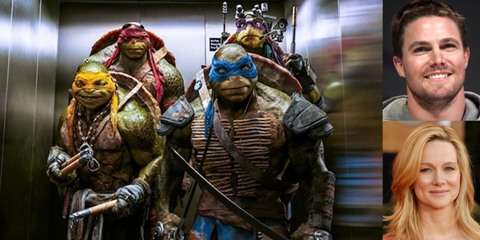 Tmnt 2 First Look At Stephen Amell As Casey Jones Laura Linney